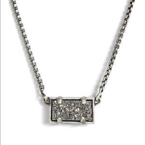 New Kendra Scott Pattie Platinum Drusy Necklace.
